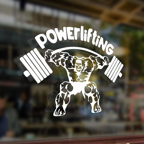 Наклейка Powerlifting