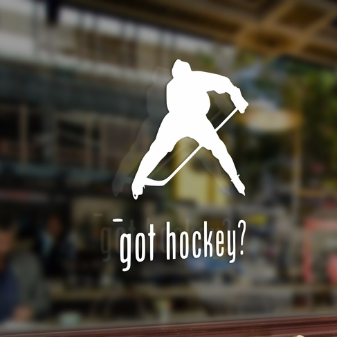Наклейка Got hockey? поиграем в хоккей?