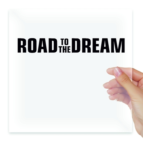 Наклейка ROAD TO THE DREAM