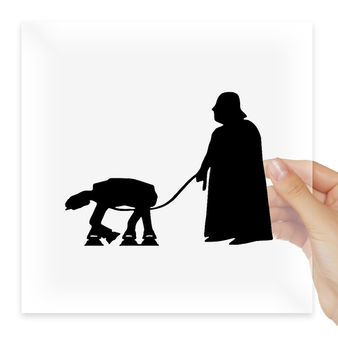 Наклейка Darth Vader walking At-At