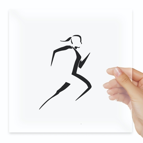 Наклейка Runner Girl Decal Running Jogging Triathlon