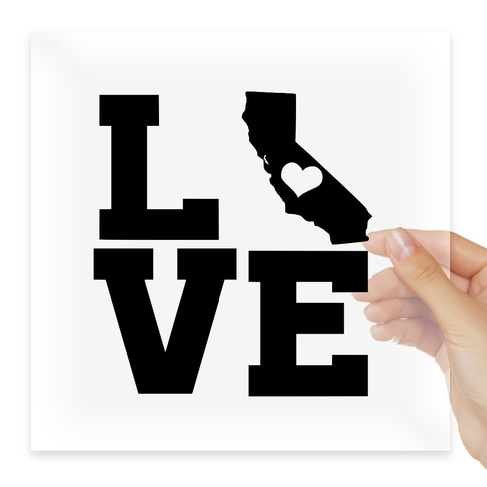 Наклейка Home State Outline Love USA California