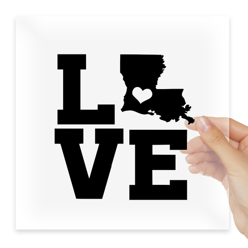 Наклейка Home State Outline Love USA Louisiana