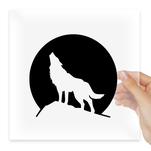 Наклейка Wolf Howling At The Moon