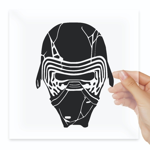 Наклейка Starwars Kylo REN Rise Of Skywalker broken Helmet
