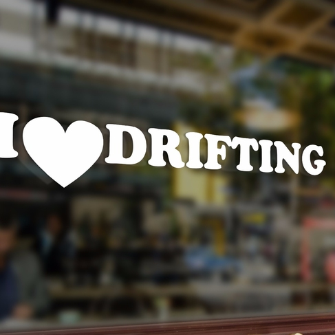 Наклейка I LOVE DRIFTING
